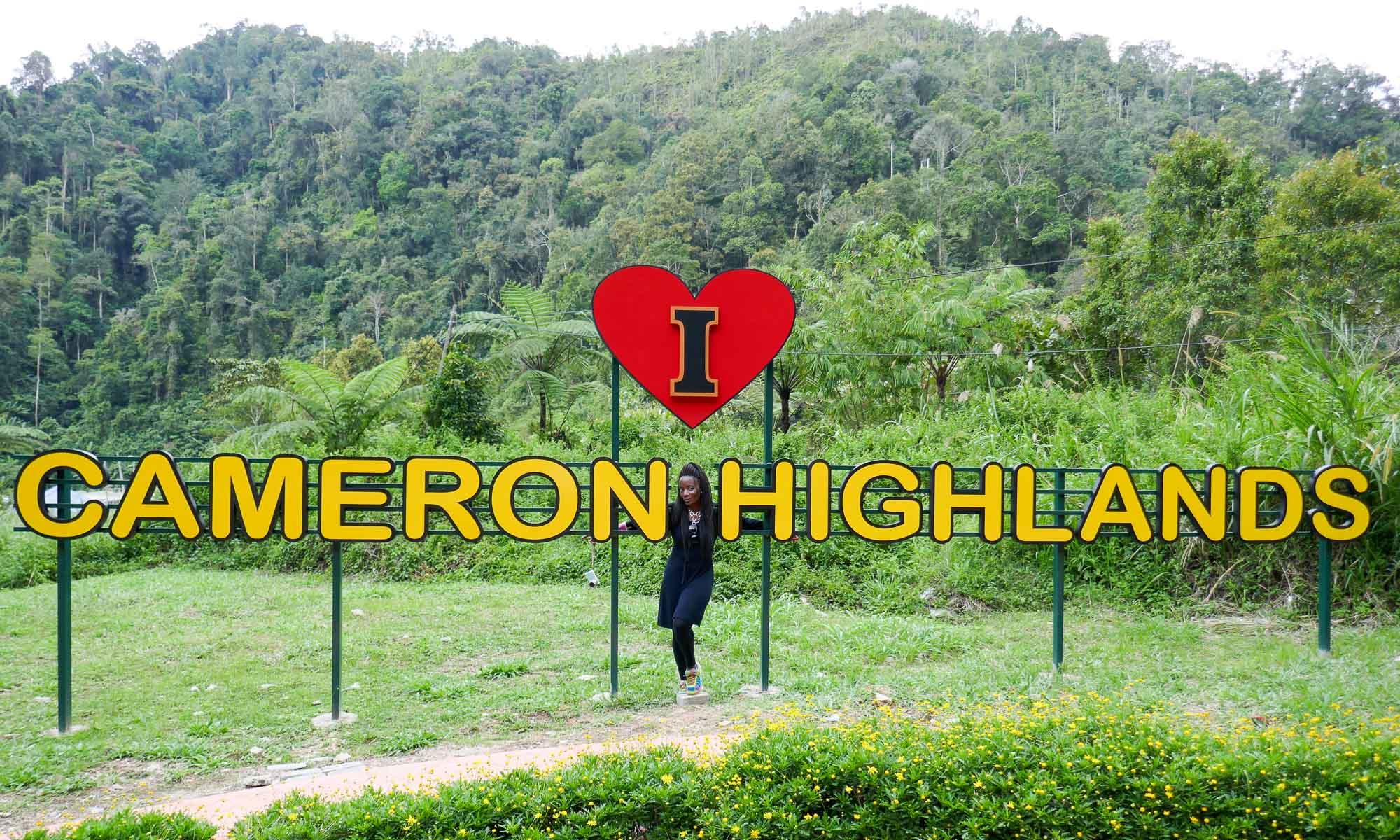 I love Cameron Highlands sign