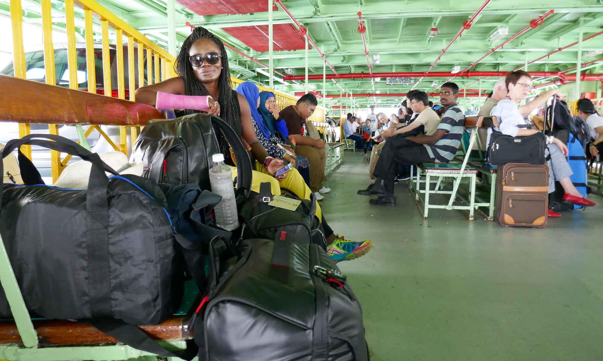 At the ferry to Penang Island