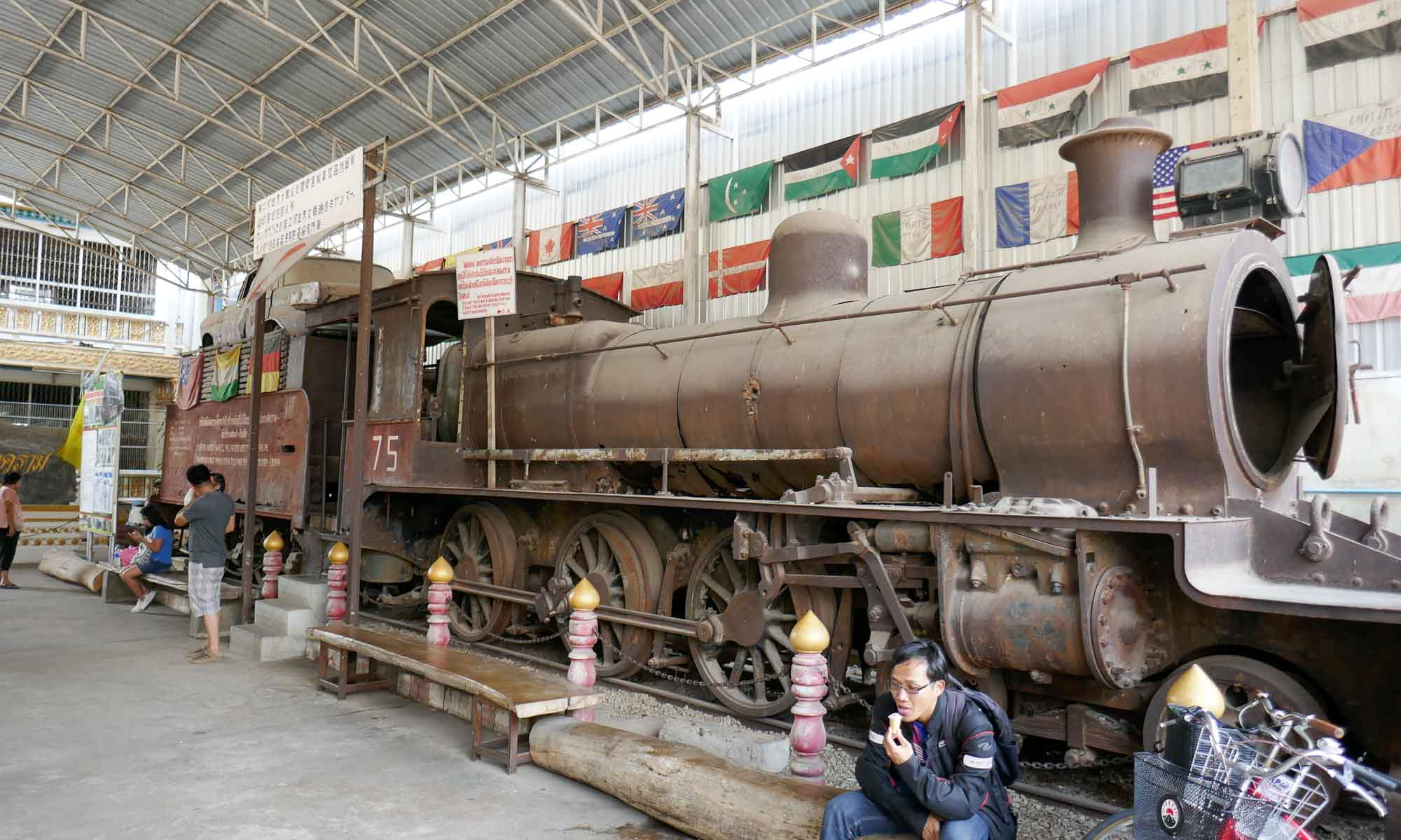 Old steam engine at entrance of Jeath Museum 2