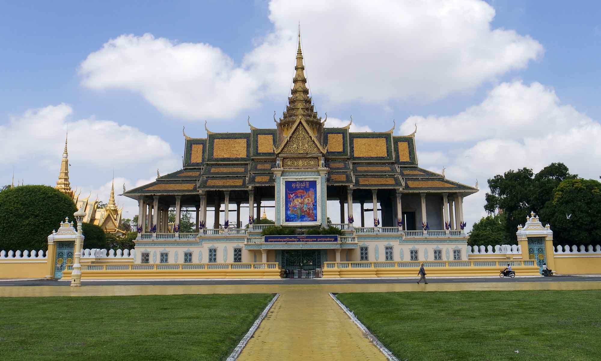 Moonlight Pavilion and The Throne Hall at the Royal Palace area