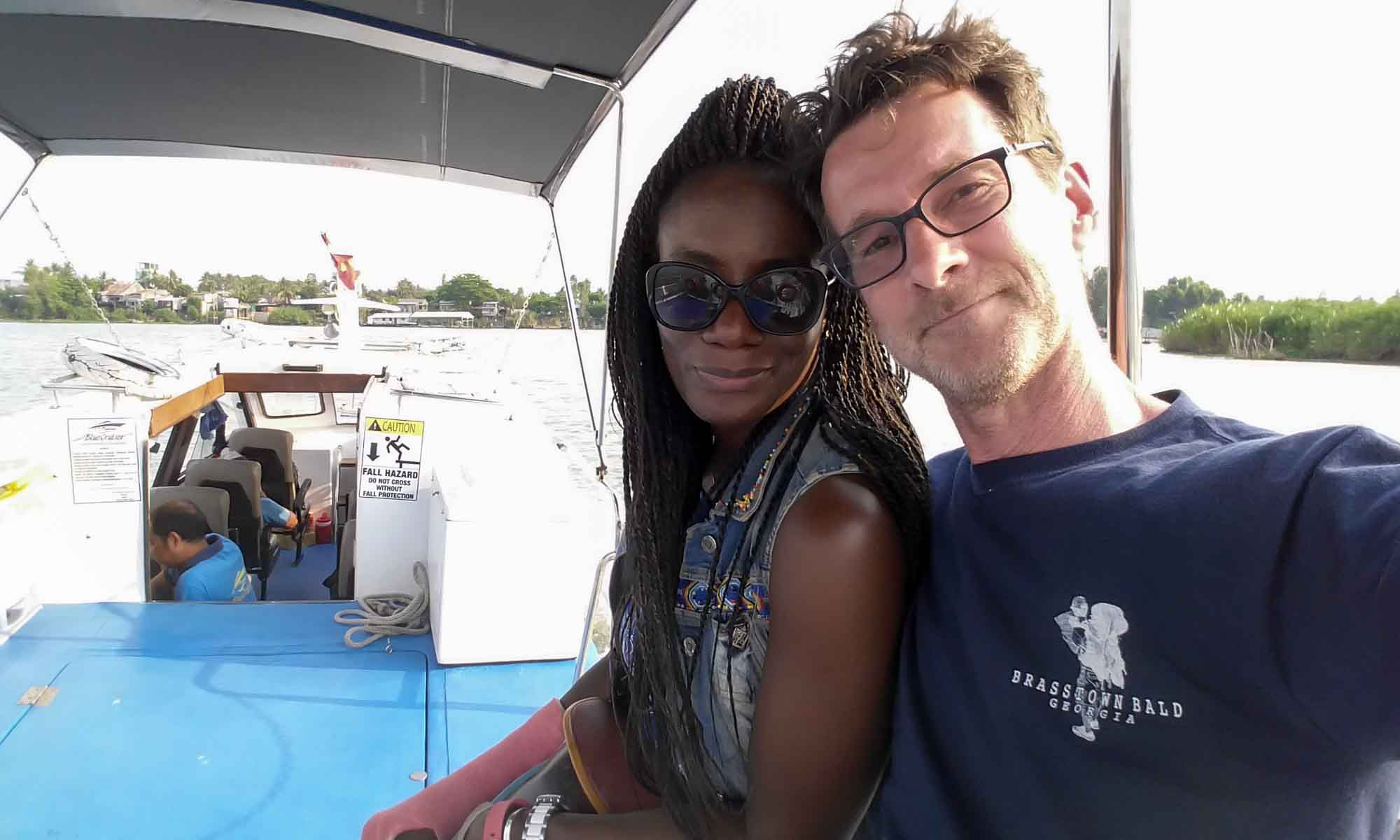 Us on the Blue Cruiser boat