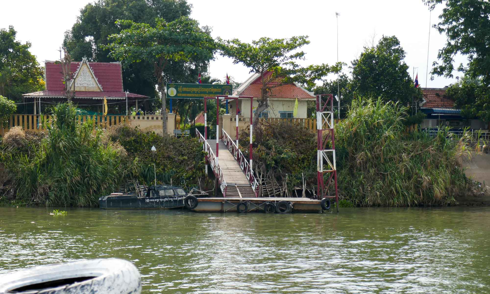 One of two stops: Cambodian immigration