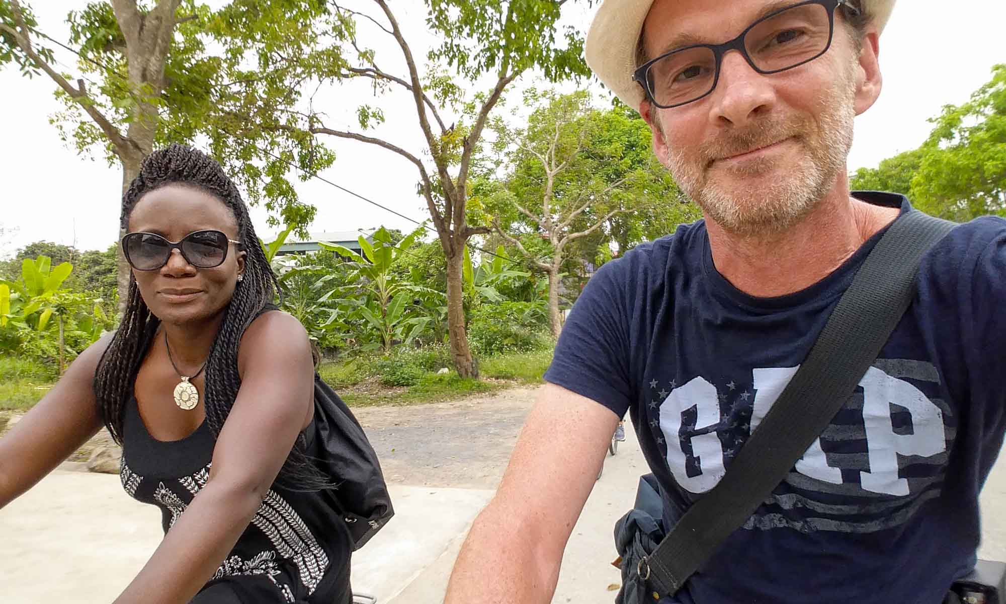 Us biking around Tam Coc
