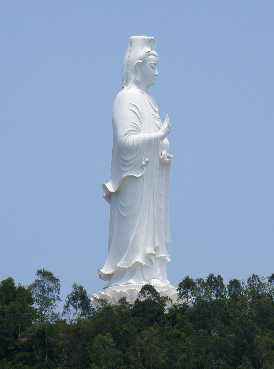 The huge Lady Buddha statue