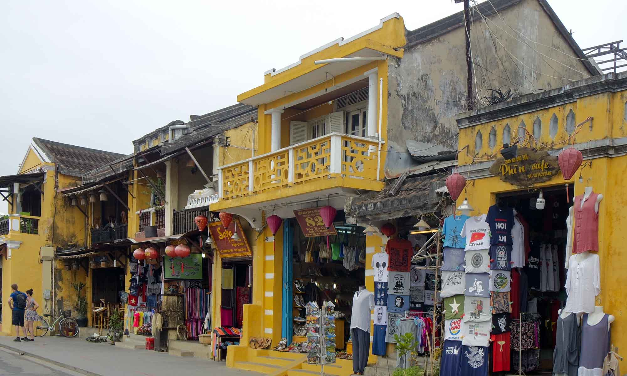 Yellow painted buildings in Old Town