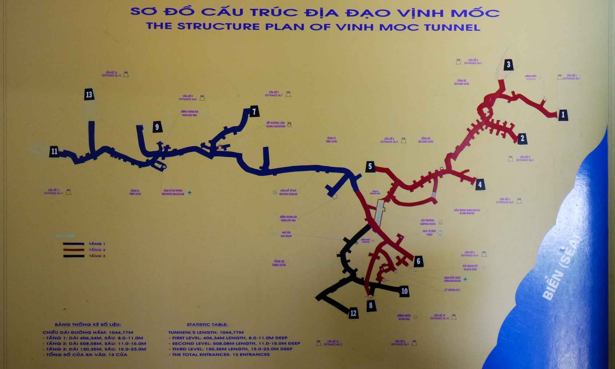 Vinh Moc tunnel plan