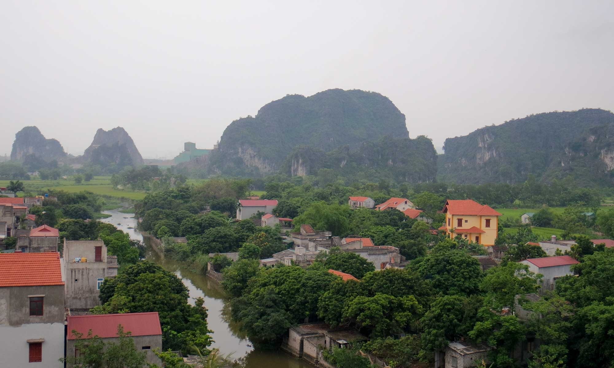 View on Tam Coc from our hotel