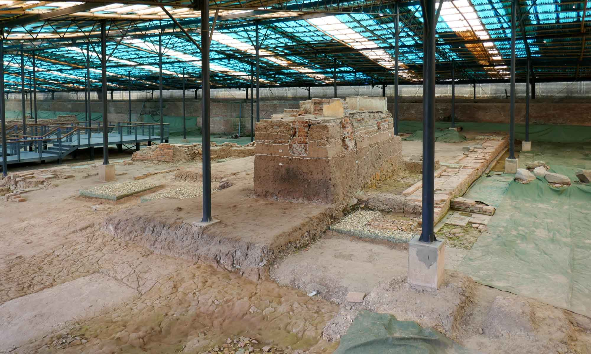 Part of the archaeological site