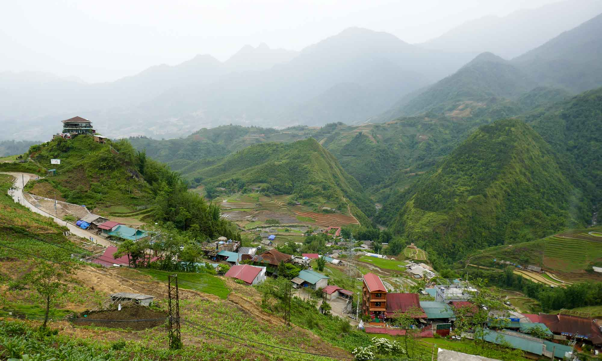 Amazing views on our way to Cat Cat Village
