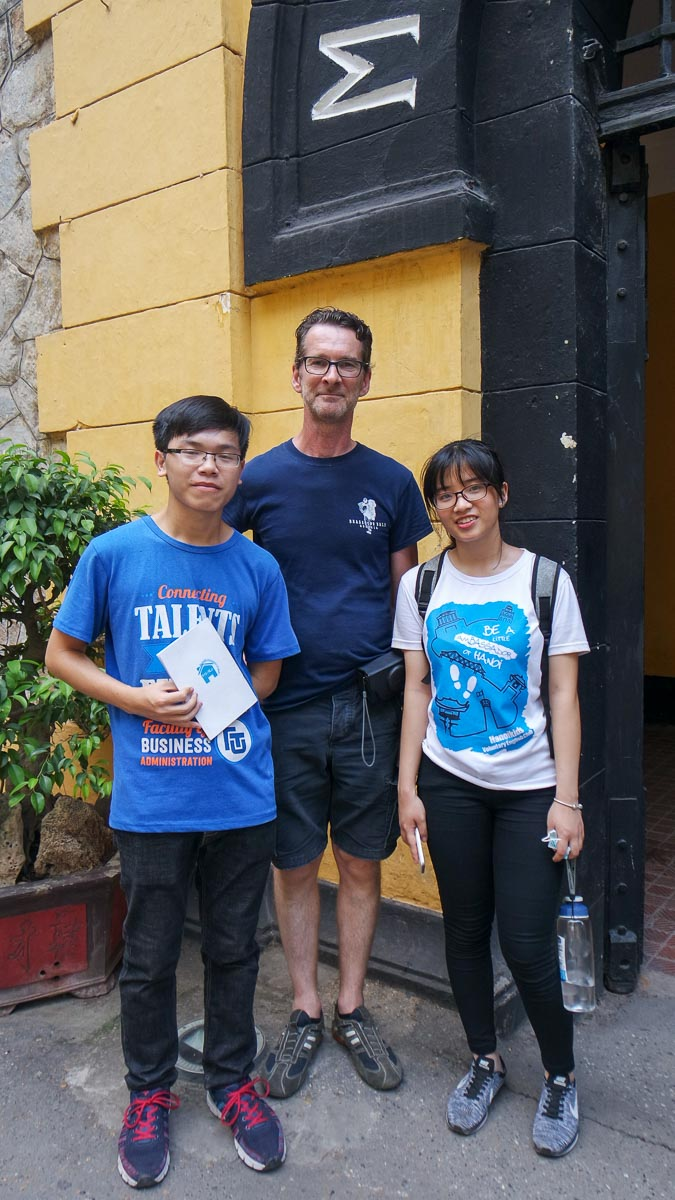 B with the two guides from Hanoi Kids
