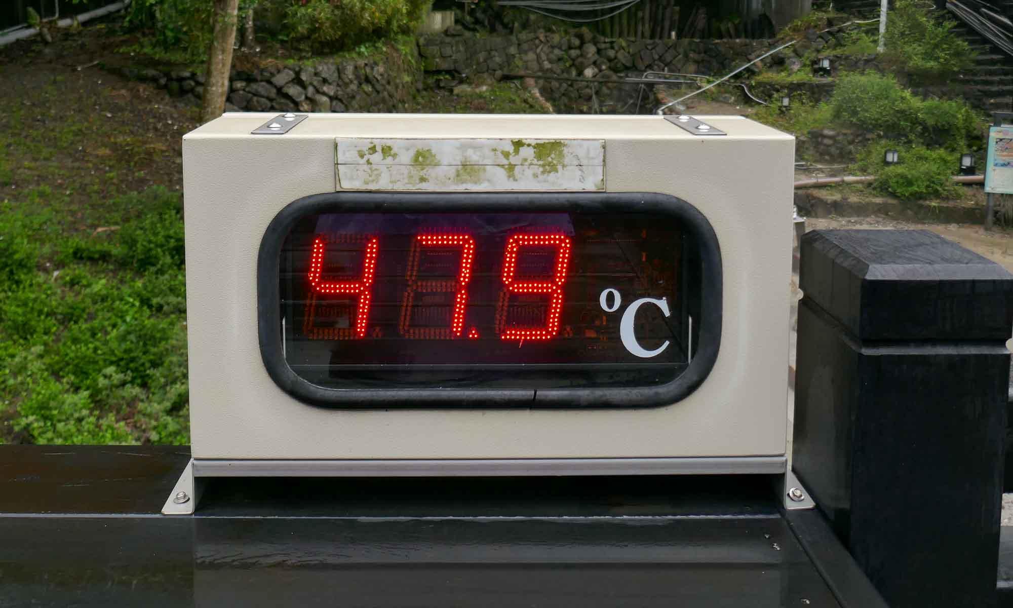 Hot spring temperature