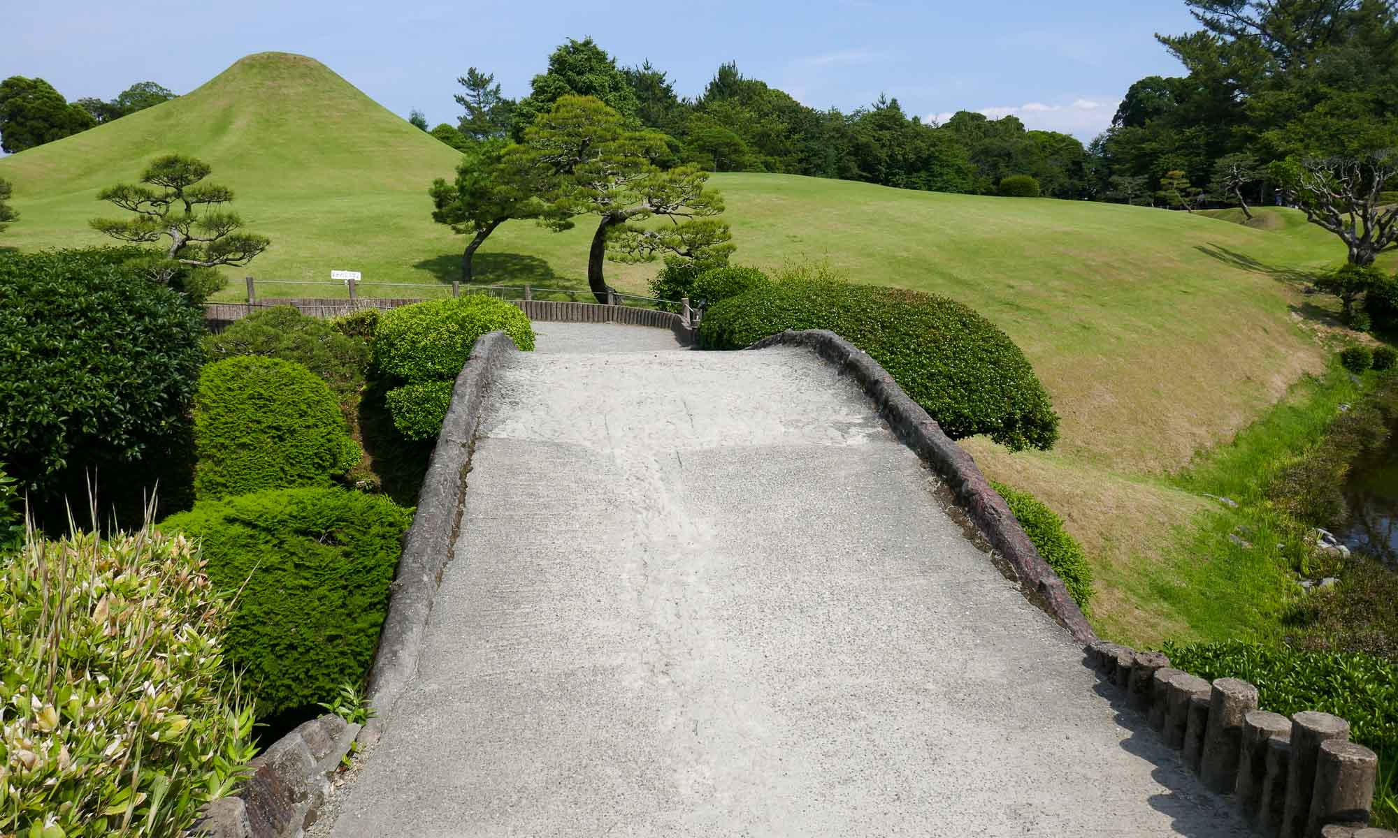 Miniature mount Fuji in Suizenji Jojuen Garden