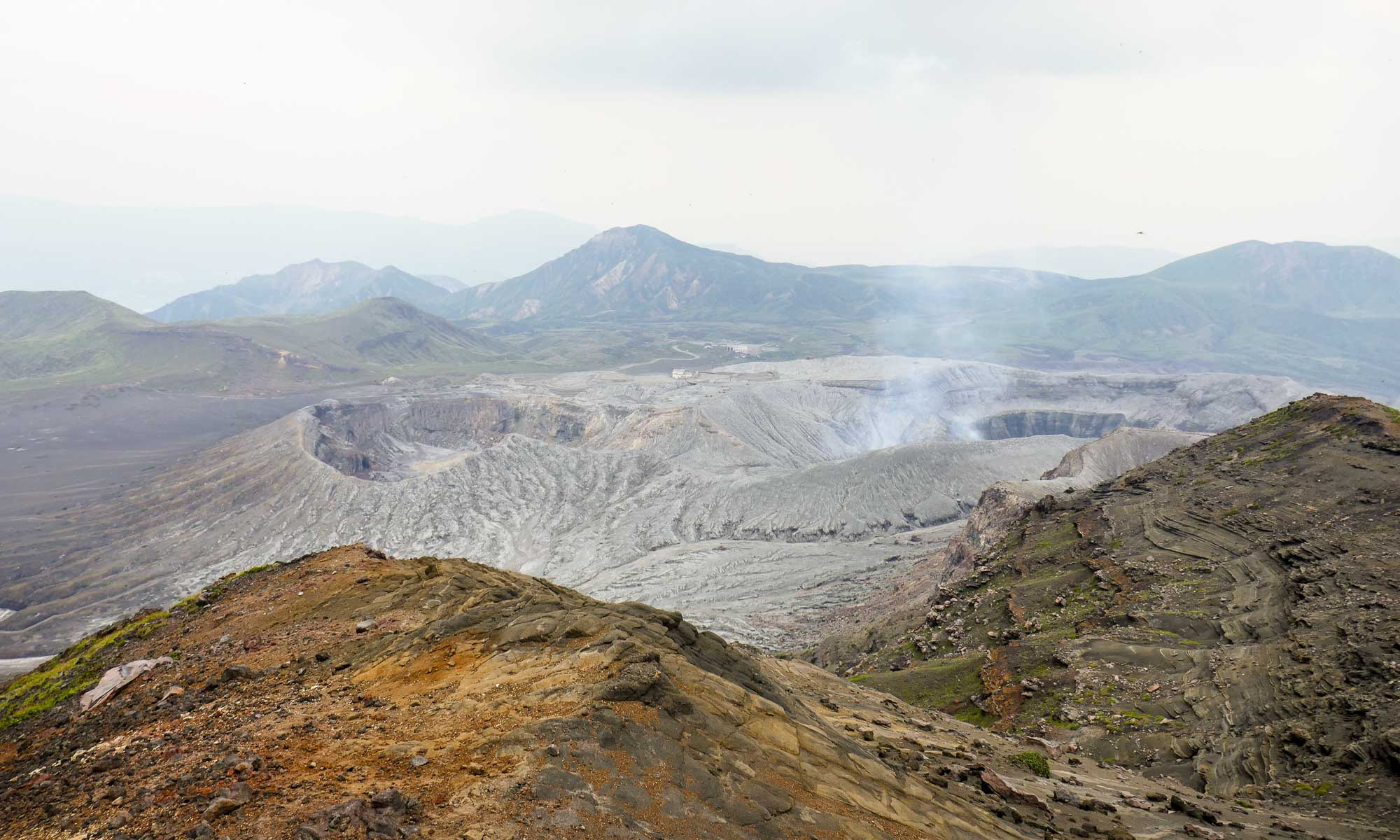 View of the crater from Mount Nakadake