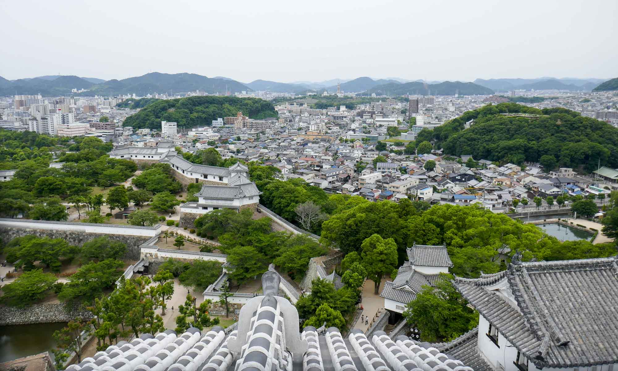 View of Himeji from the Castle