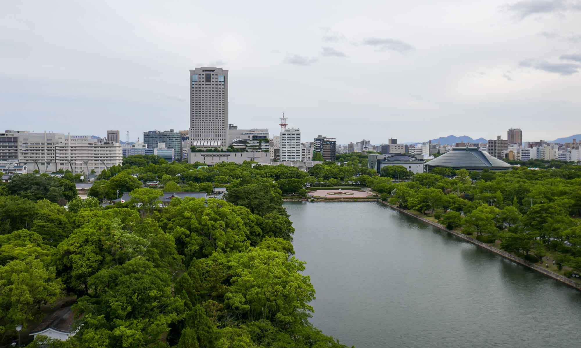 View from Hiroshima Castle