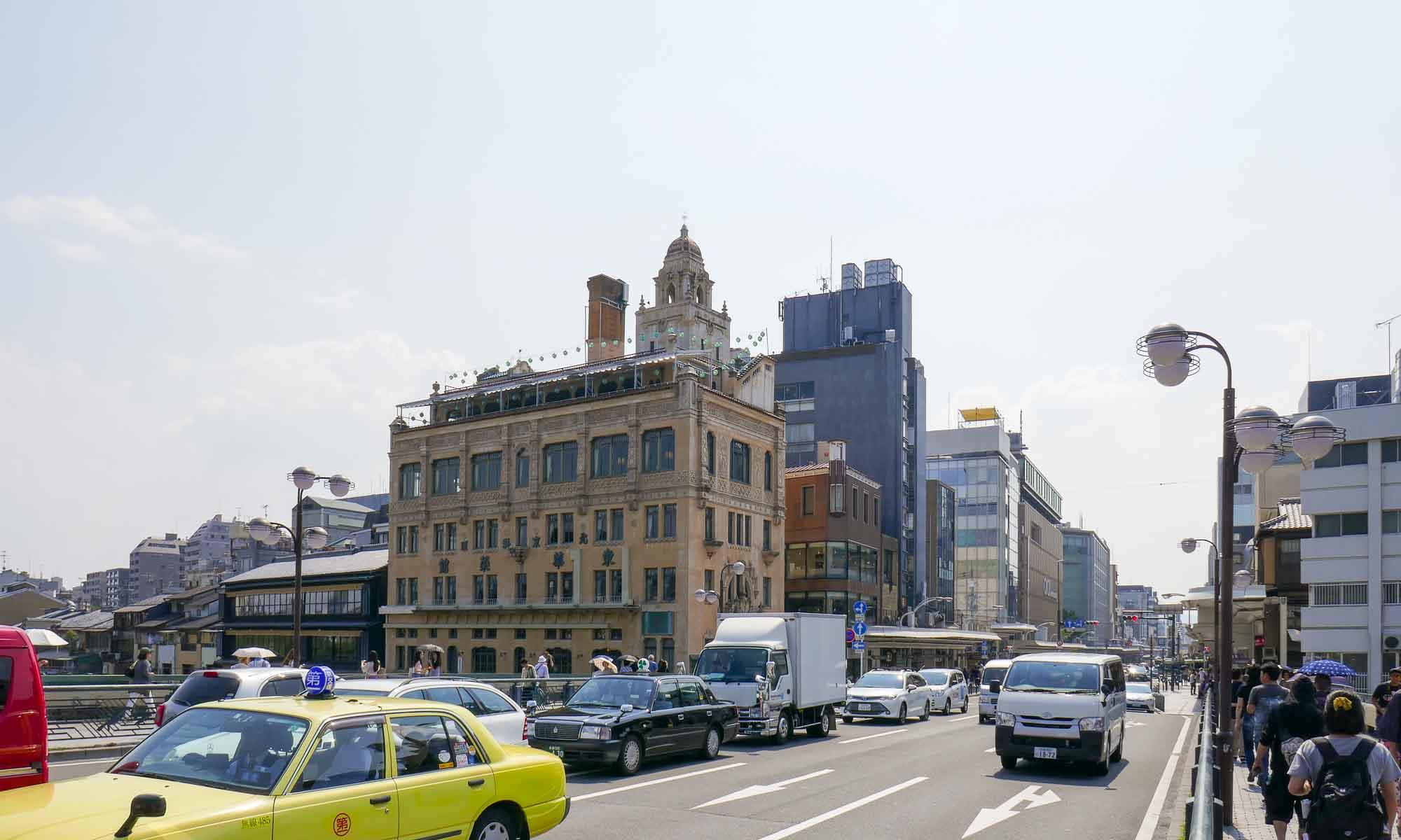 The pre-war Tohkasaikan Building at the Shijo bridge
