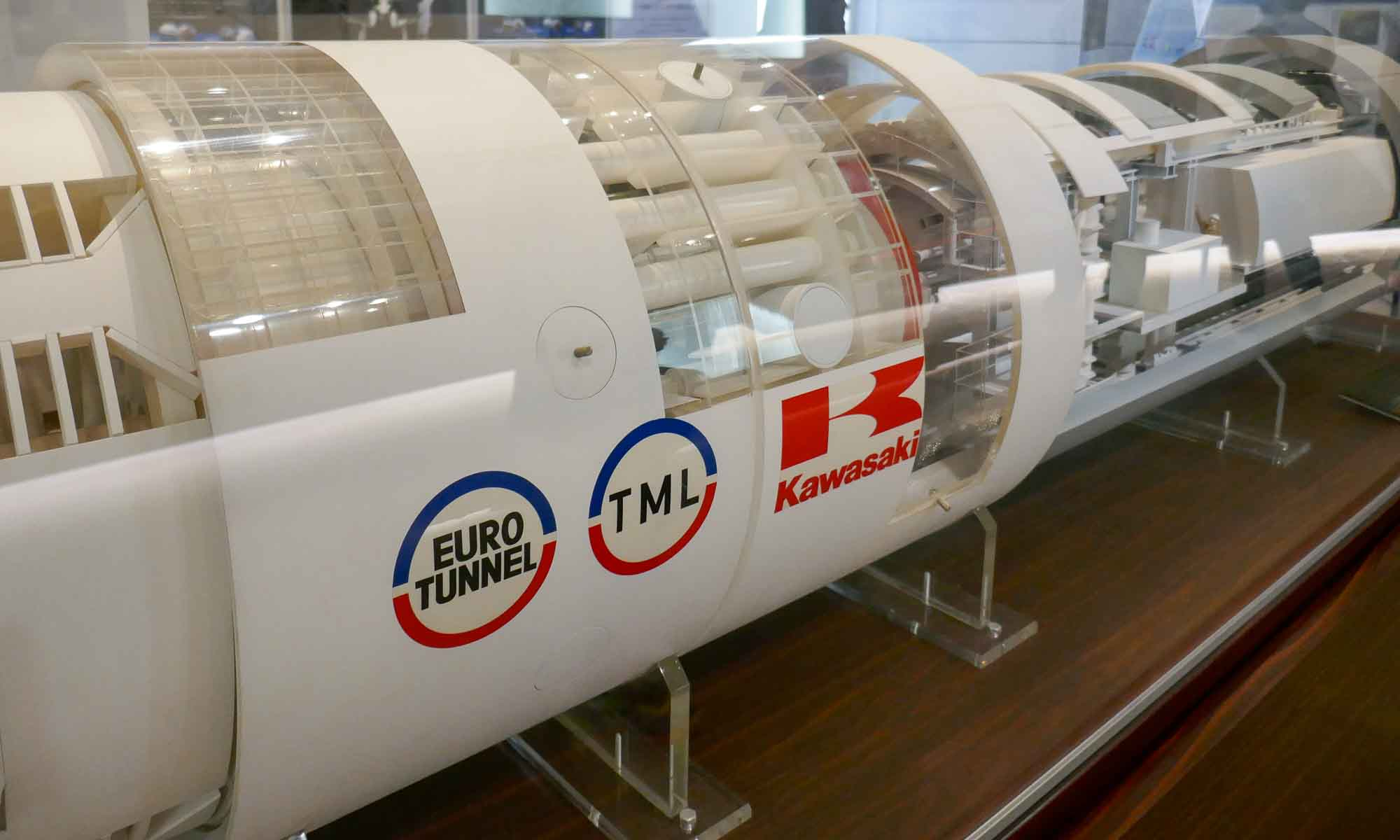 Two Kawasaki Boring Machines (1/20 scale) drilled the Eurotunnel, between France and England