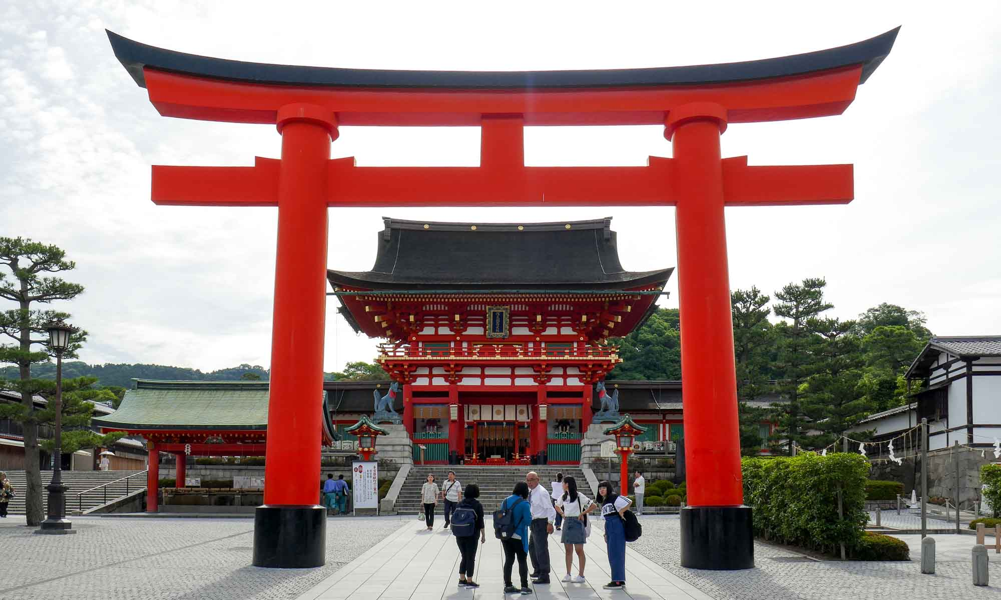 One of the first of many torii