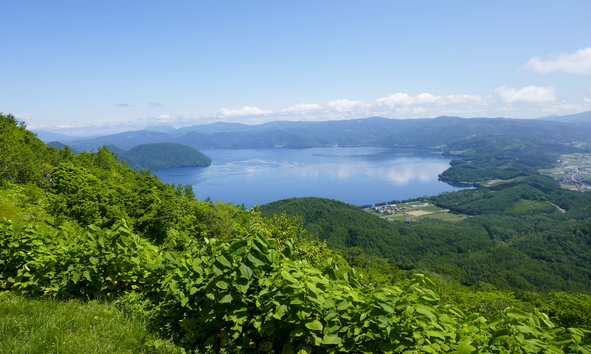 View of Lake Toya from the first observation point
