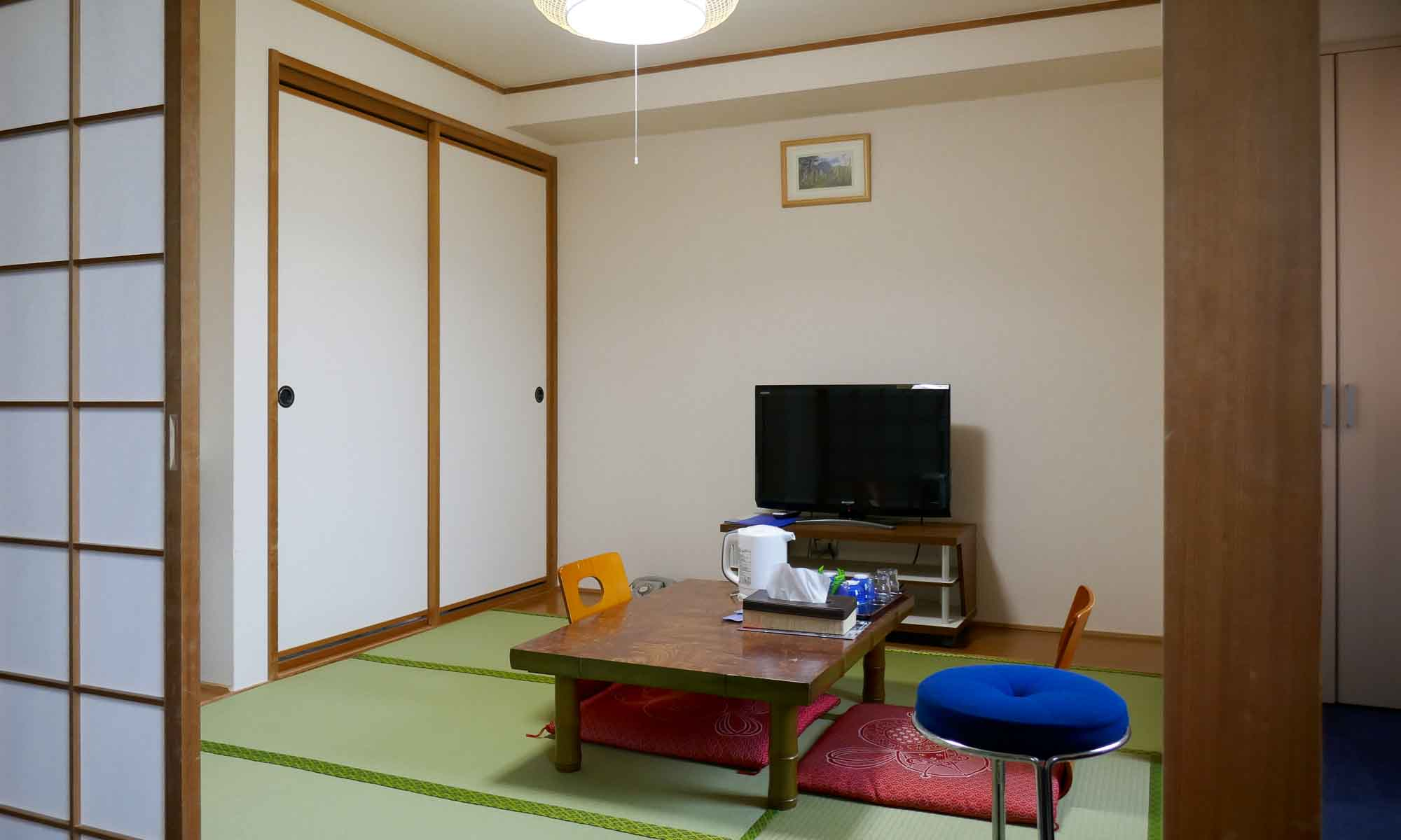 The tatami area in our room