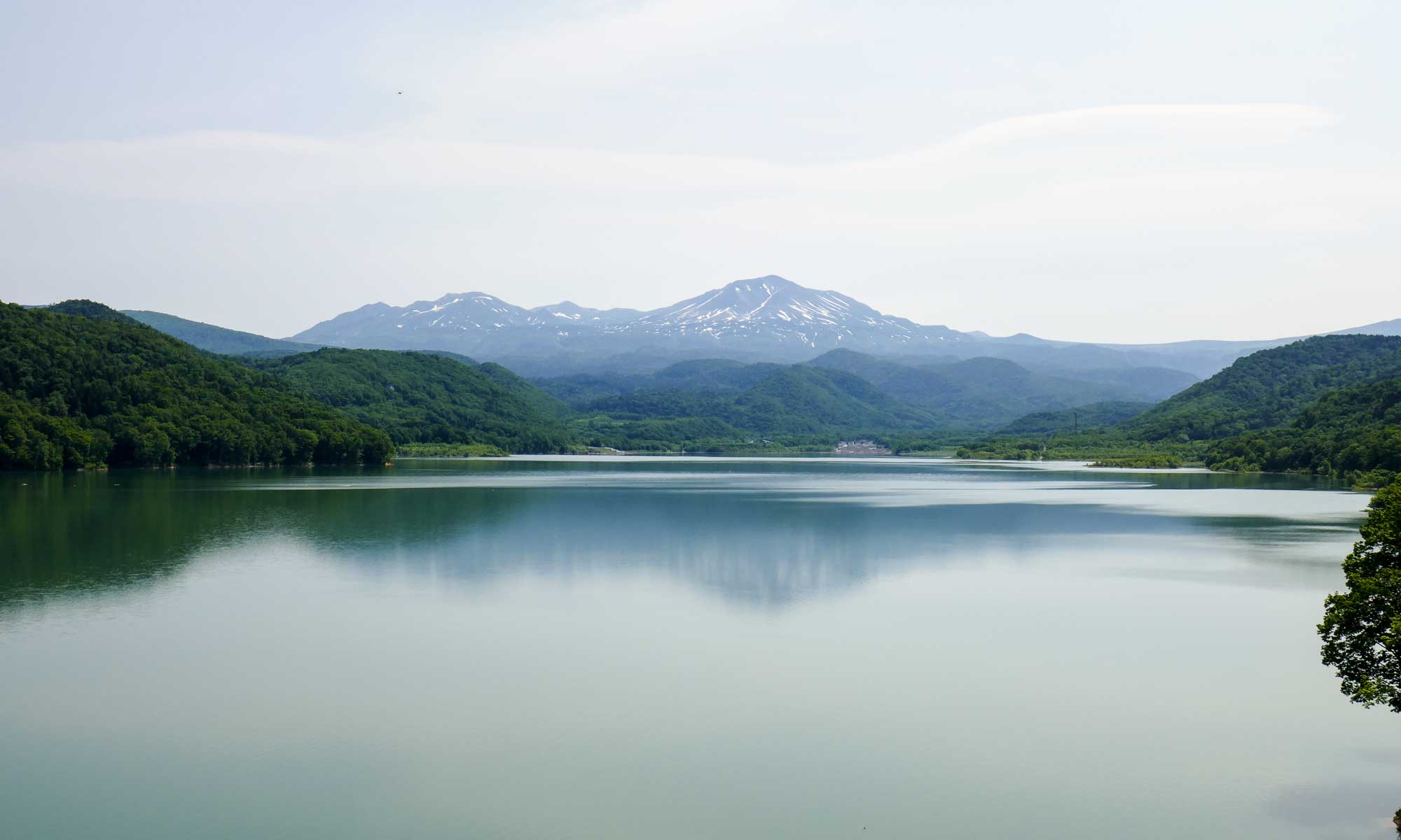 Asahidake viewed from Chubetsu Lake