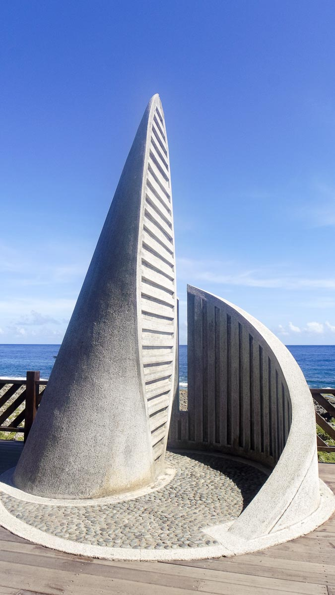 The monument at the southernmost point of Taiwan