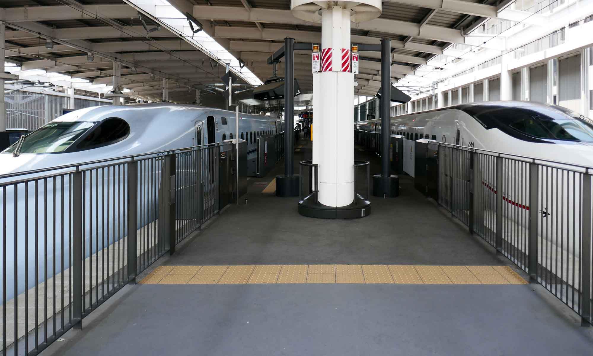 Shinkansen at Kumamoto Station