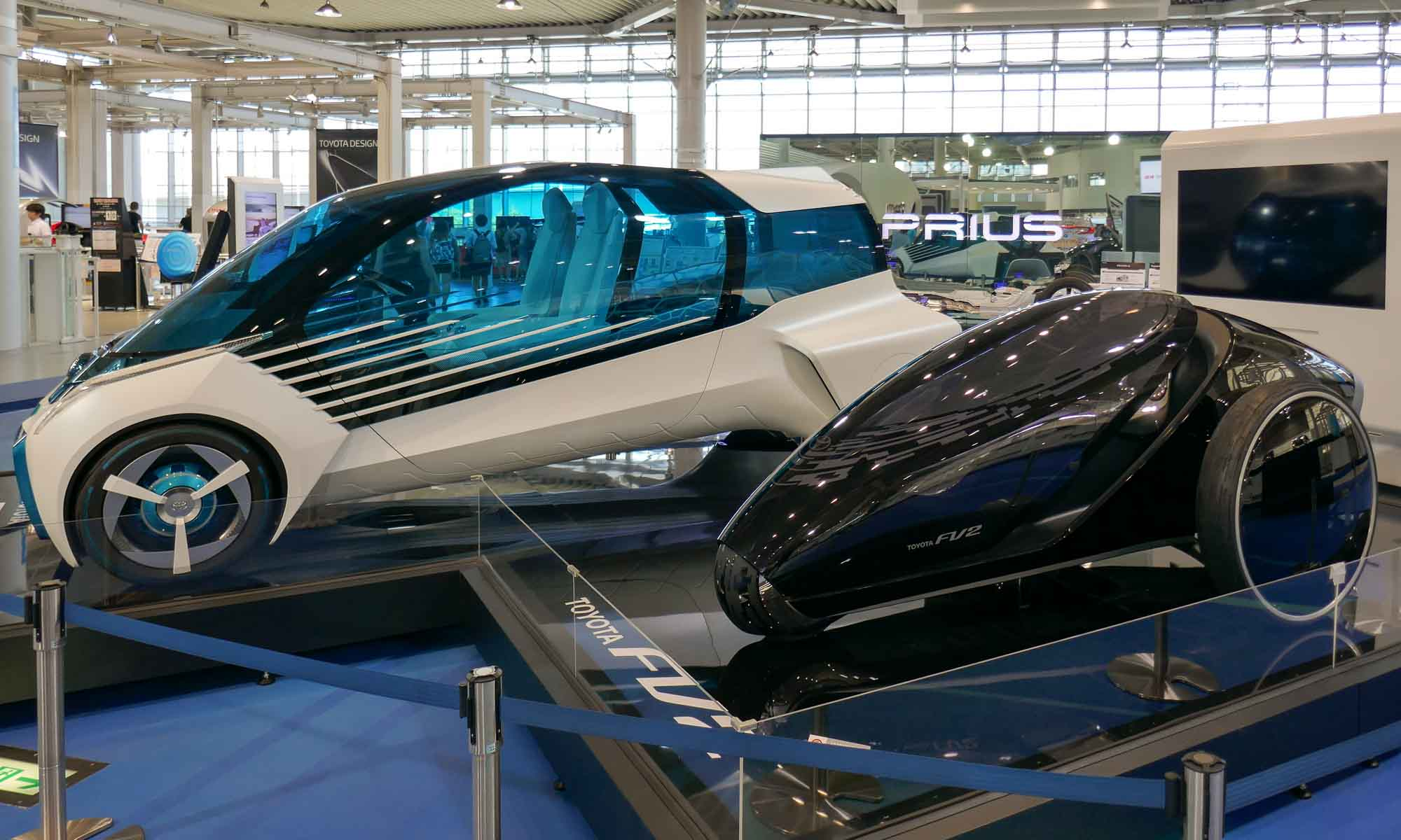 Some of Toyota's futuristic models at MegaWeb