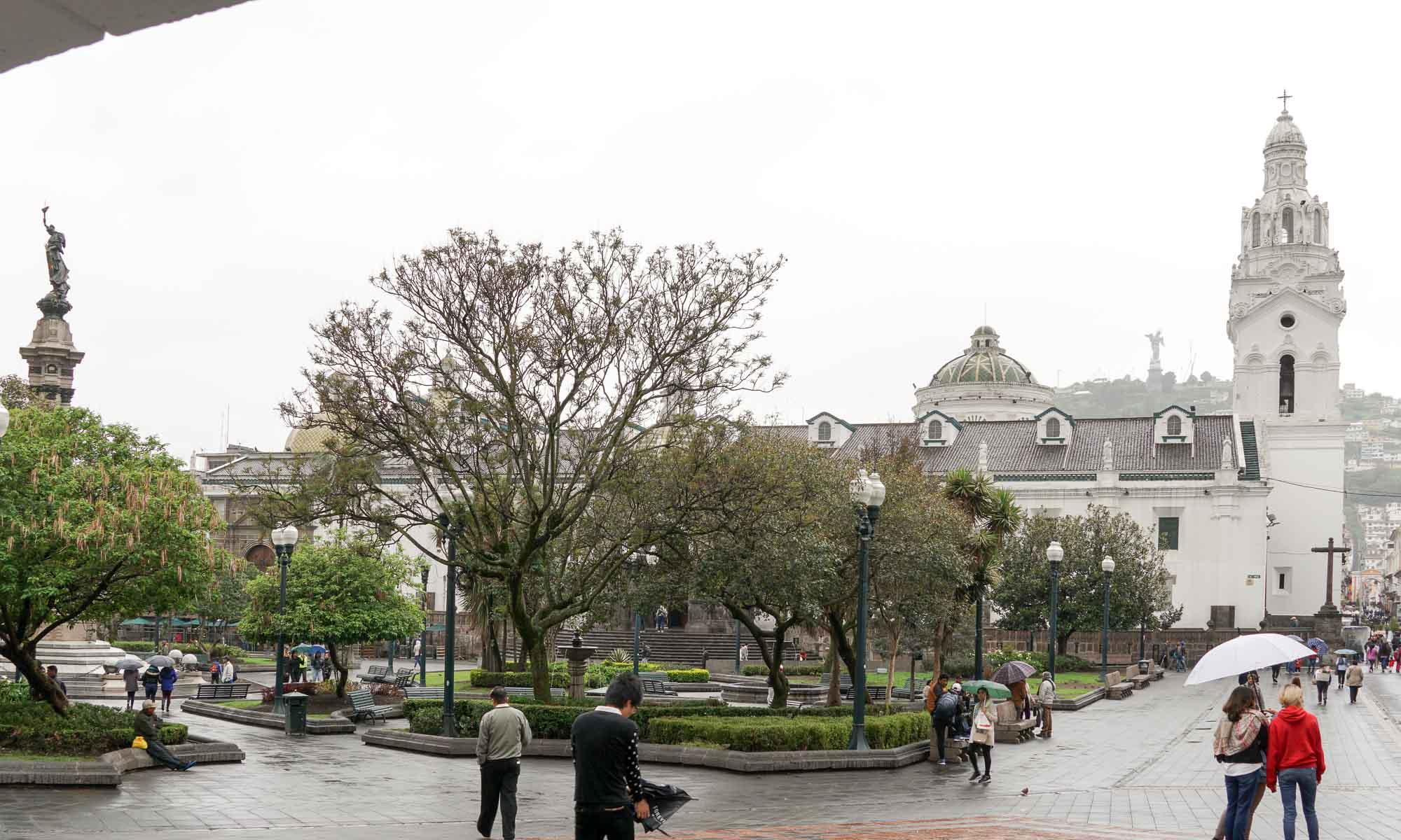 Plaza Grande with the Catedral Metropolitana de Quito