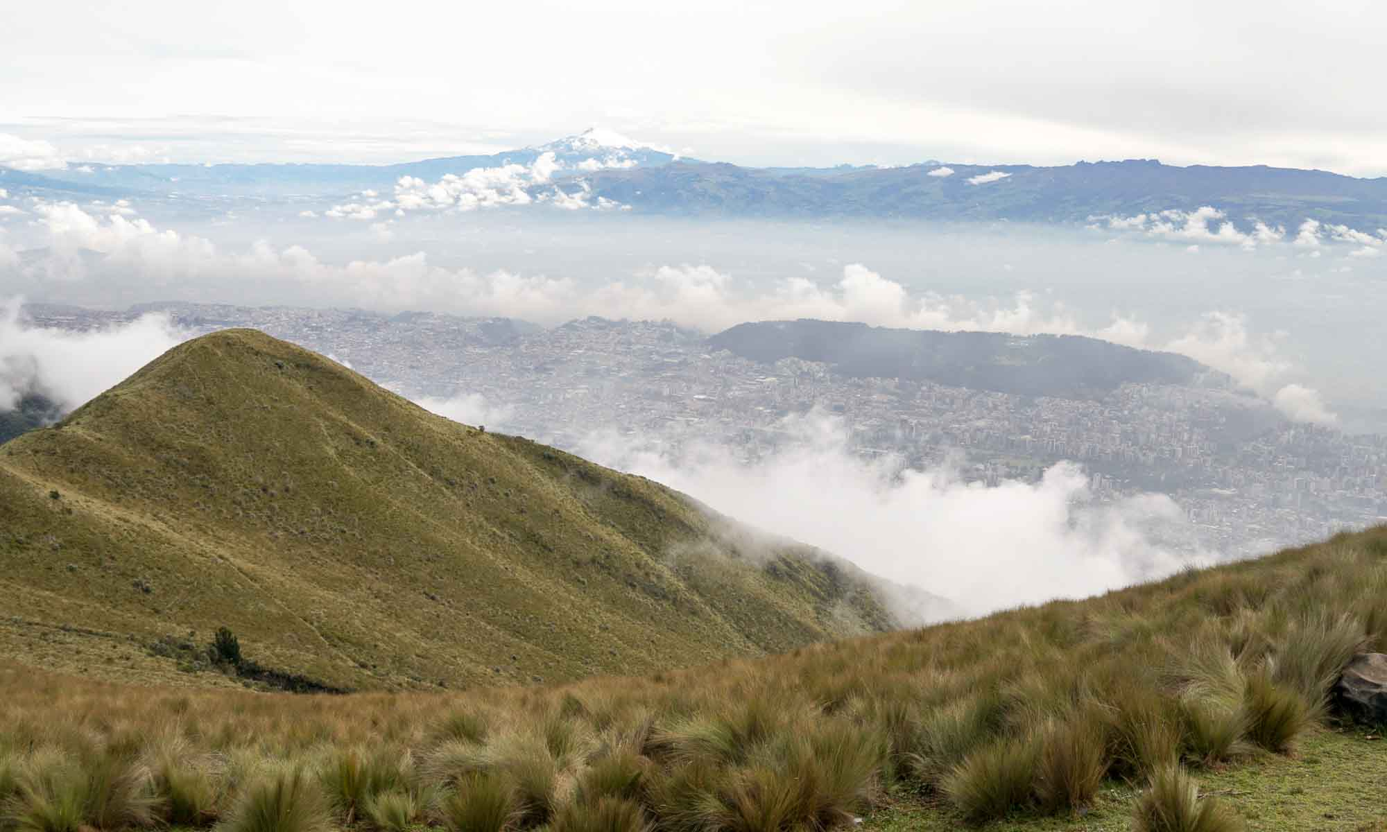 View on Quito and Cotopaxi