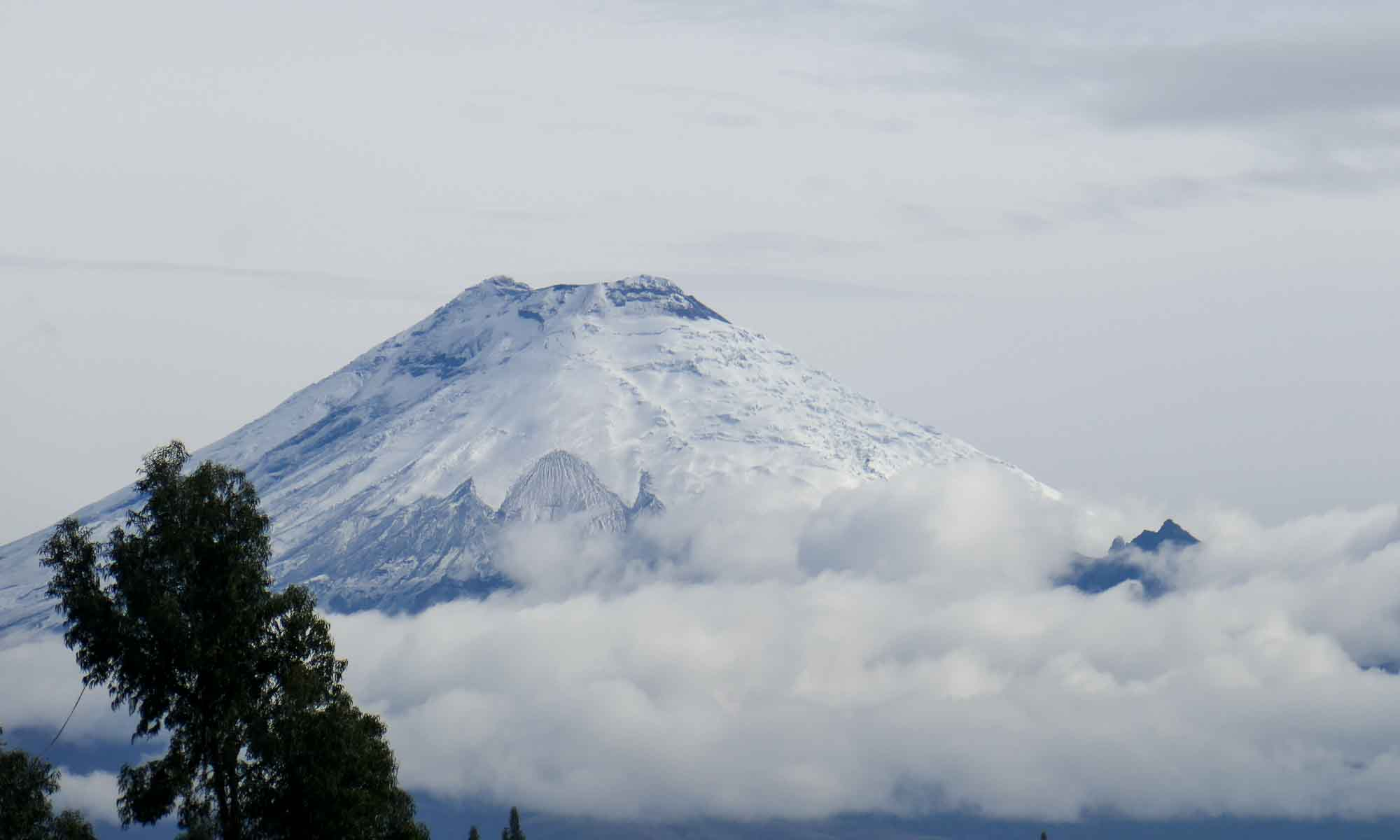 A clear view of the Cotopaxi Volcano summit
