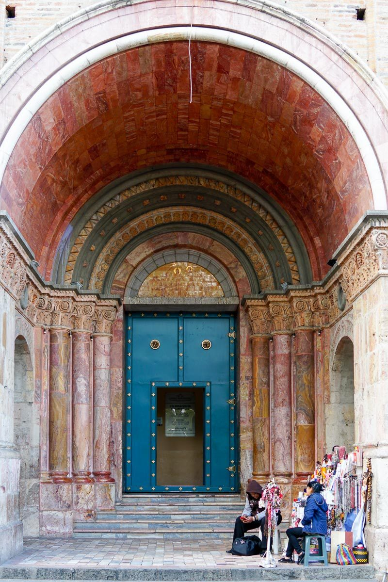 One of the entrances of the New Cathedral